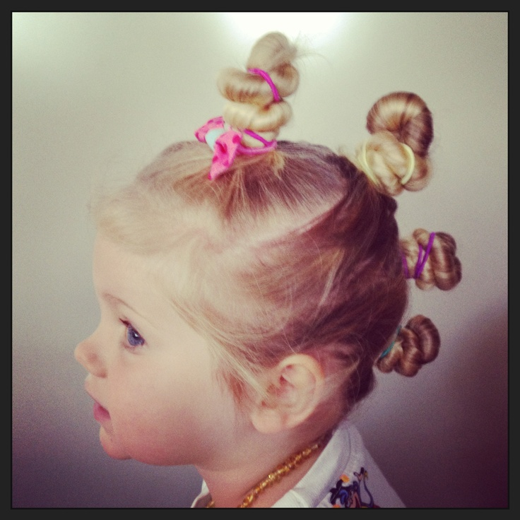 Bun hawk for crazy hair day at Kindy :)
