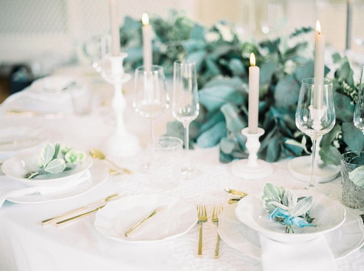 Gold Table Details | Lily & Sage | Luxury Wedding Planning & Styling | Photography - Katie Julia | Flowers - Westwood Design | Cutlery - Vintage Gold China.