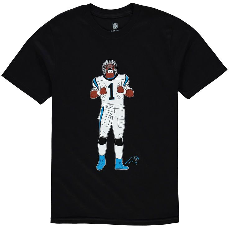 Cam Newton Carolina Panthers Youth Name & Number Celebration Pose T-Shirt - Black - $17.59