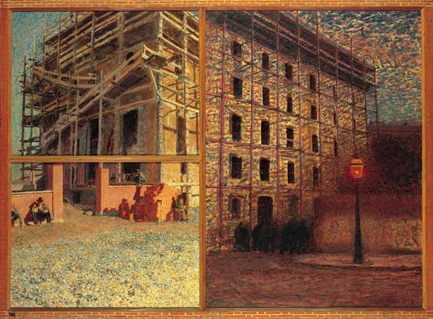 Giacomo Balla, La giornata dell'operaio (lavorano, mangiano, ritornano) (1904)