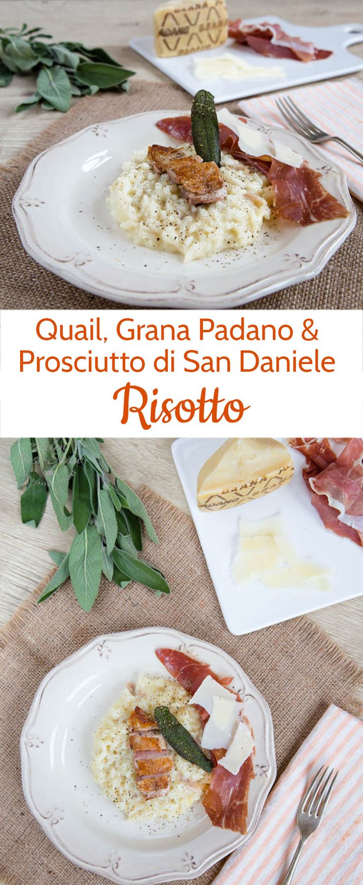 Treat yourself to something a little out of the ordinary with this quail and Grana Padano risotto with Prosciutto di San Daniele recipe by Giorgio Locatelli