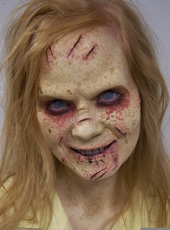 Zombie costume *AWESOME* It's more like the Exorcist though....