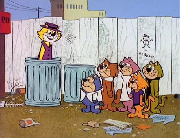 "1961 - 'Top Cat', aquí ""Don Gato""."