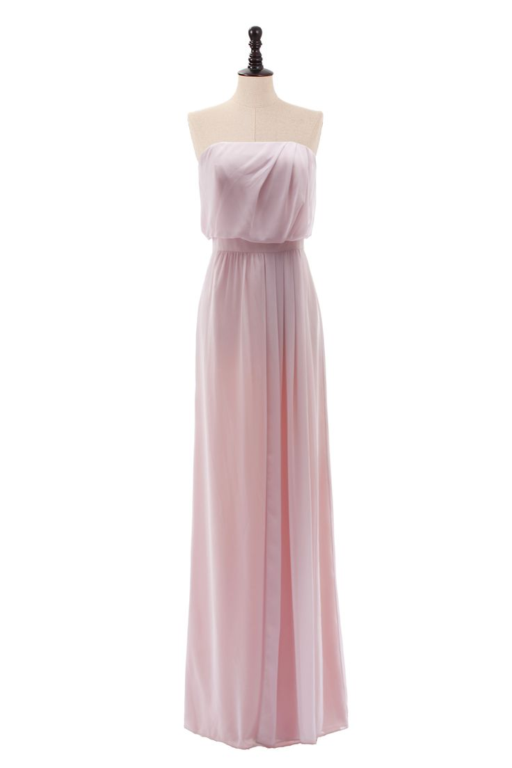 Strapless Chiffon Gown With Natural Waist