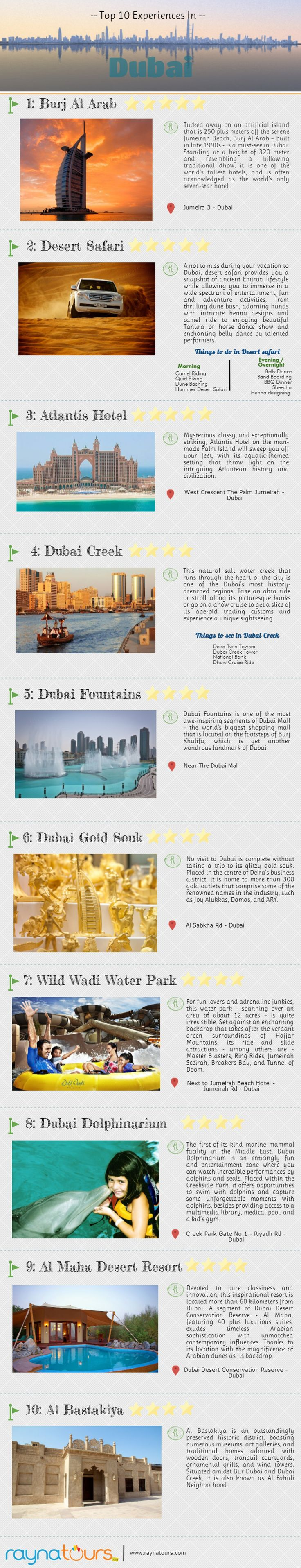 Top 10 Experiences in #Dubai