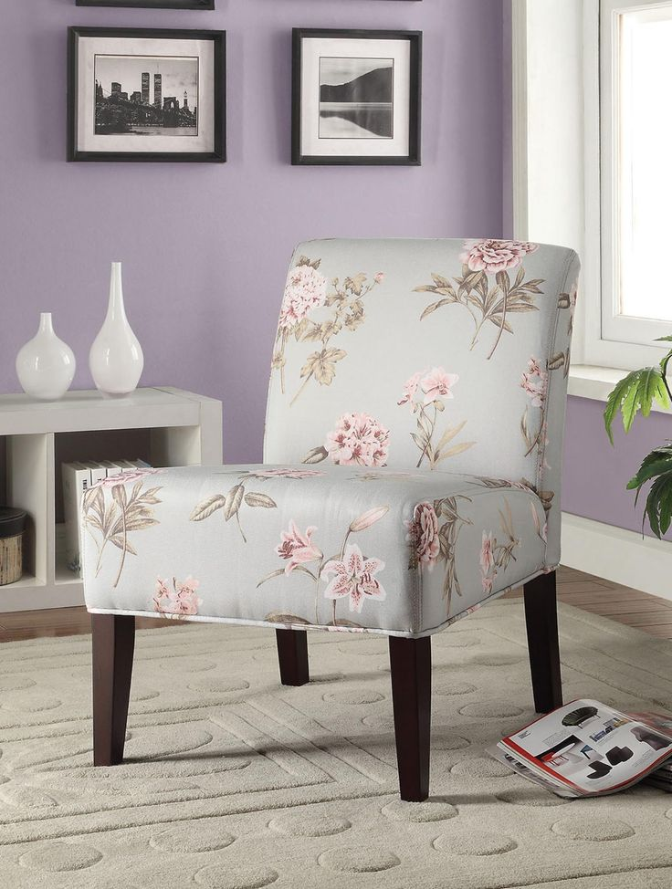 Floral Pastel Blue Accent Chair 199 00 30 W x 22 D x 33  17. Lease To Own Accent Chairs Philadelphia