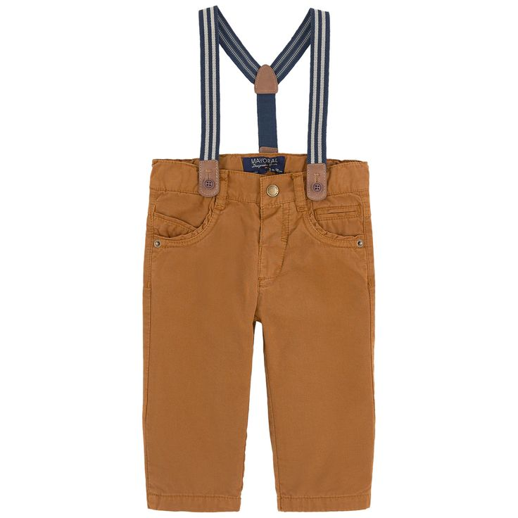 Boy regular fit pants with removable braces