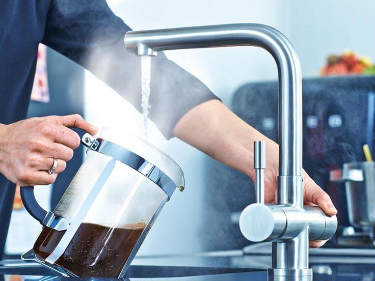 Kokend water kraan 3 in 1. Koud, warm en kokend heet water uit 1 kraan - van Franke