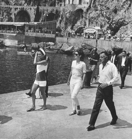 Gianni Agnelli and Jackie in Italy.