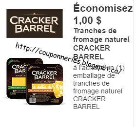 Coupons et Circulaires: 1$ sur CRACKER BARREL