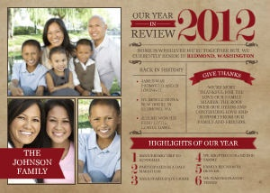 Mixbook Vintage Year in Review Holiday Photo Cards
