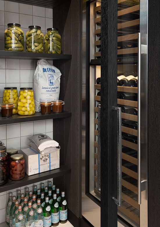 Crosby Kitchen Kate Hume for Vonder walk-in pantry with wine cooler