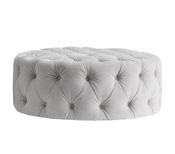 Monique Lhuillier Large Round Tufted Ottoman 399 Pb Kids 38 Diameter
