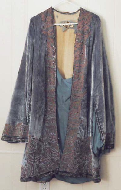 Evening coat Designer: Vitaldi Babani (French, born Middle East, active 1895–1940) Date: early 1920s Culture: French Medium: silk, metal