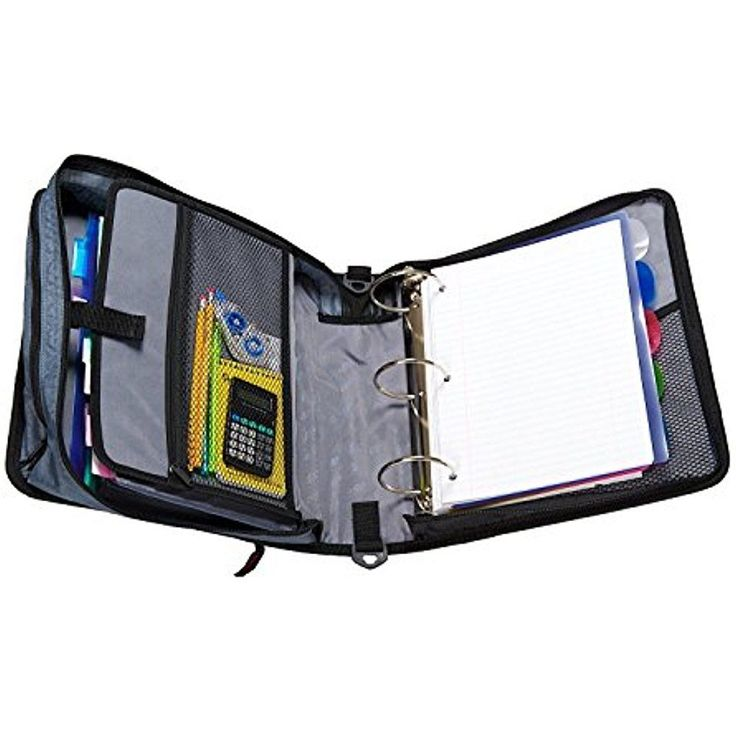 Case-it 3-Inch Zipper Binder O-rings 5-Color Tabbed Mighty Zip Tab Handle Office #CaseIt