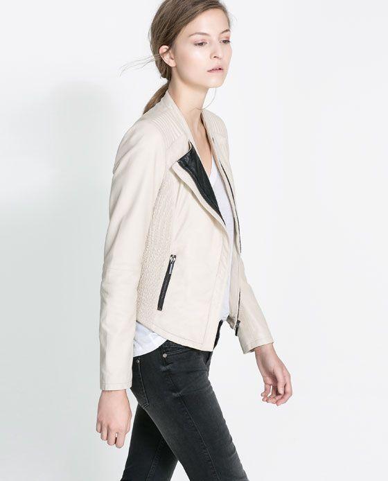 Image 3 of LEATHER JACKET from Zara