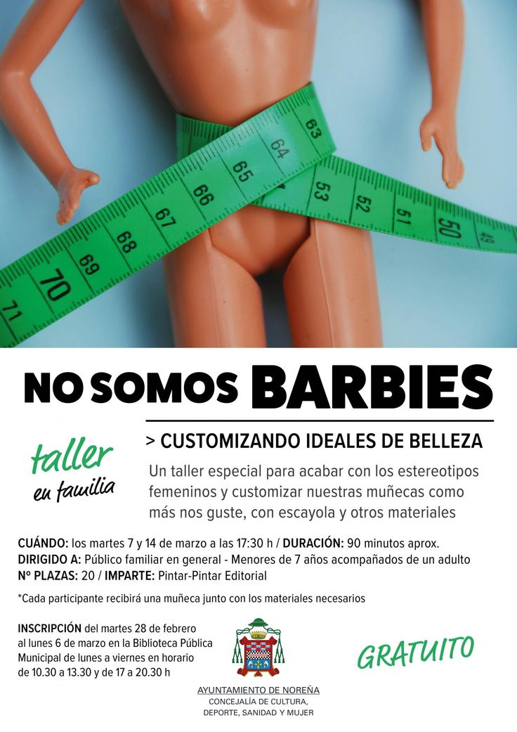No somos BARBIES. Customizando ideales de belleza > Taller en colaboración con el Ayuntamiento de Noreña
