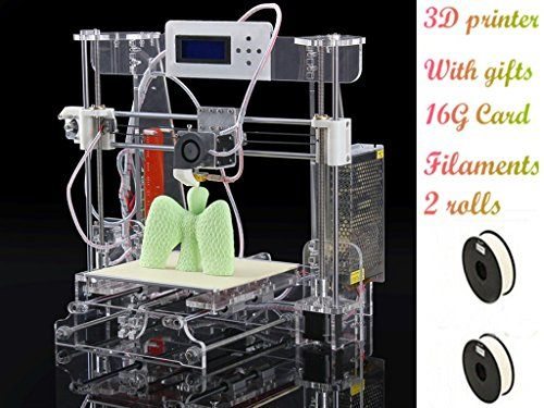 2016 LCD High Precision DIY 3d Printer Kit, 210*210*240mm 3d-Printer 3d Metal Printer with 2Roll Filament 16GB SD Card For Free (Transparent Color,Filaments Material and Color Optional) DMYY http://www.amazon.co.uk/dp/B01BY2V2XQ/ref=cm_sw_r_pi_dp_kb77wb1M7Z94J