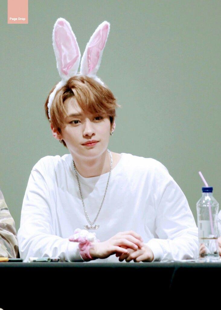 StrayKids #LeeKnow #리노 his bunny ears hehe XD | Lee know, Lee know stray  kids, Lee min ho