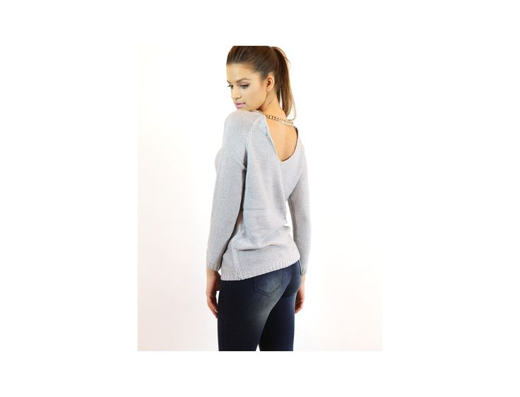 Necklace Collar Sweater - Jumpers and Cardigans - Famevogue- www.famevogue.ro  #jumpers #pulover #style #fashion #haine #trends