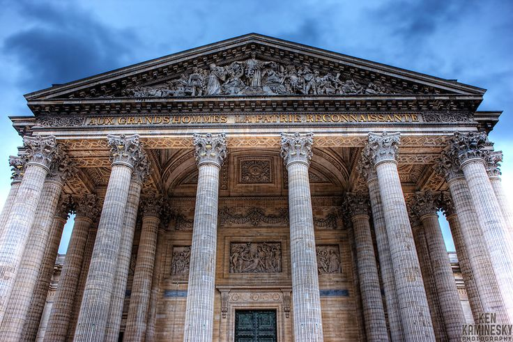 The Panthéon (Latin: Pantheon  from Greek Pantheon, meaning Every god) is a building in the Latin Quarter in Paris, containing the remains of distinguished French citizens.