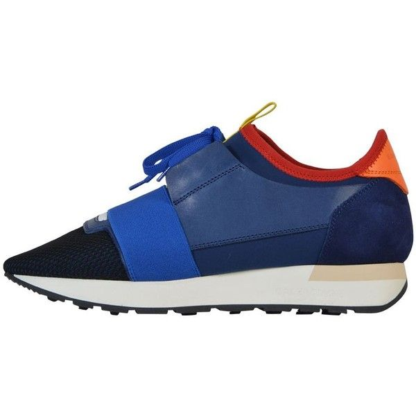 Balenciaga Race Runners ($415) ❤ liked on Polyvore featuring shoes, sneakers, balenciaga sneakers, balenciaga, balenciaga trainers and balenciaga shoes