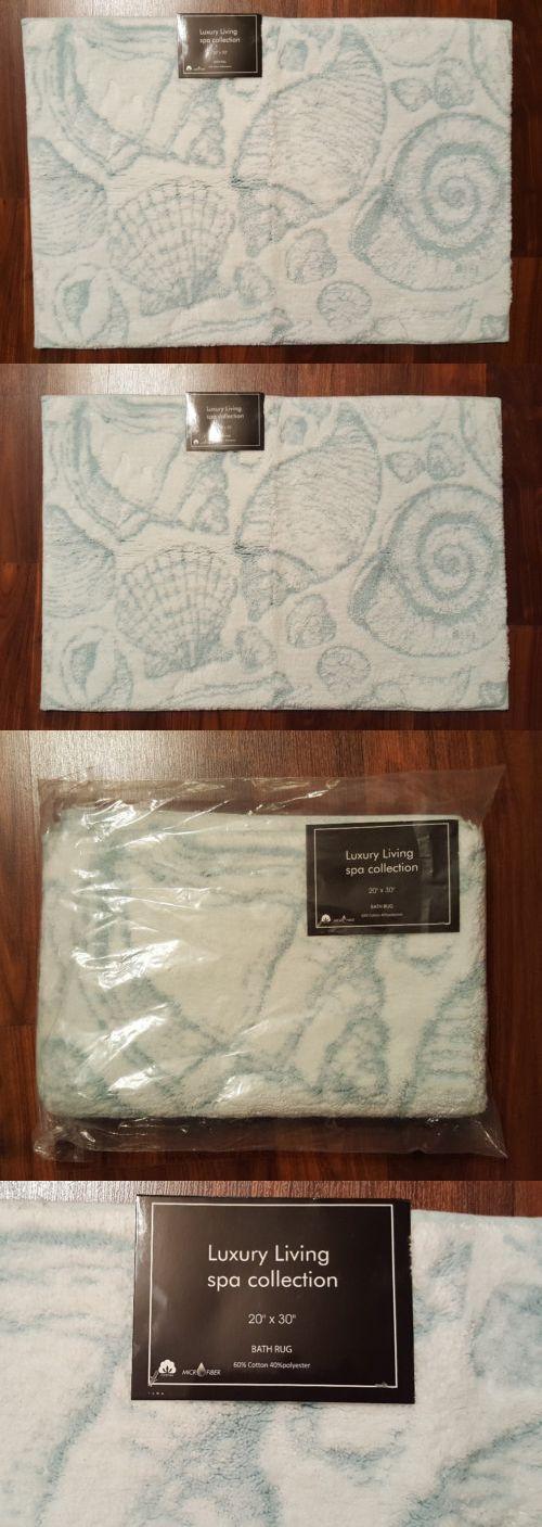 Bathmats Rugs and Toilet Covers 133696: Nautical Bathroom Bath Mat Rug Seashells Light Blue White 20 X 30 Coastal New -> BUY IT NOW ONLY: $36.49 on eBay!
