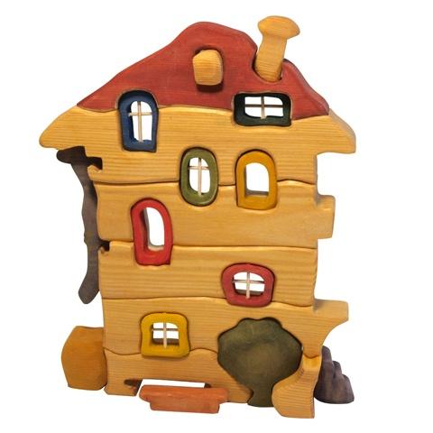 ДОМИК деревянный конструктор