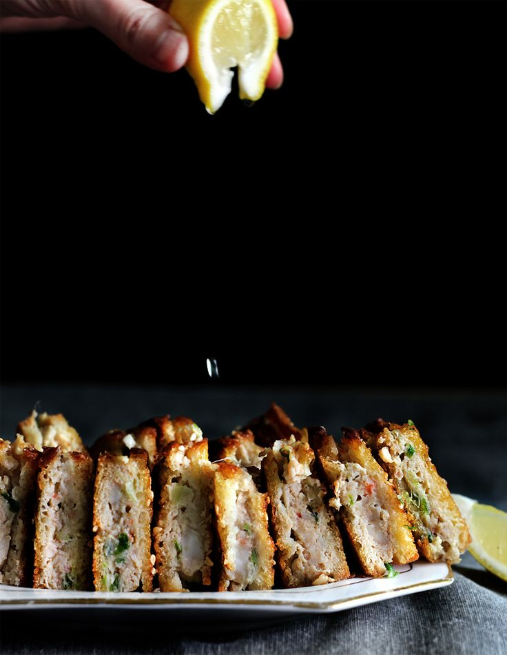 Porky, gingery shrimp toasts | Lady and Pups