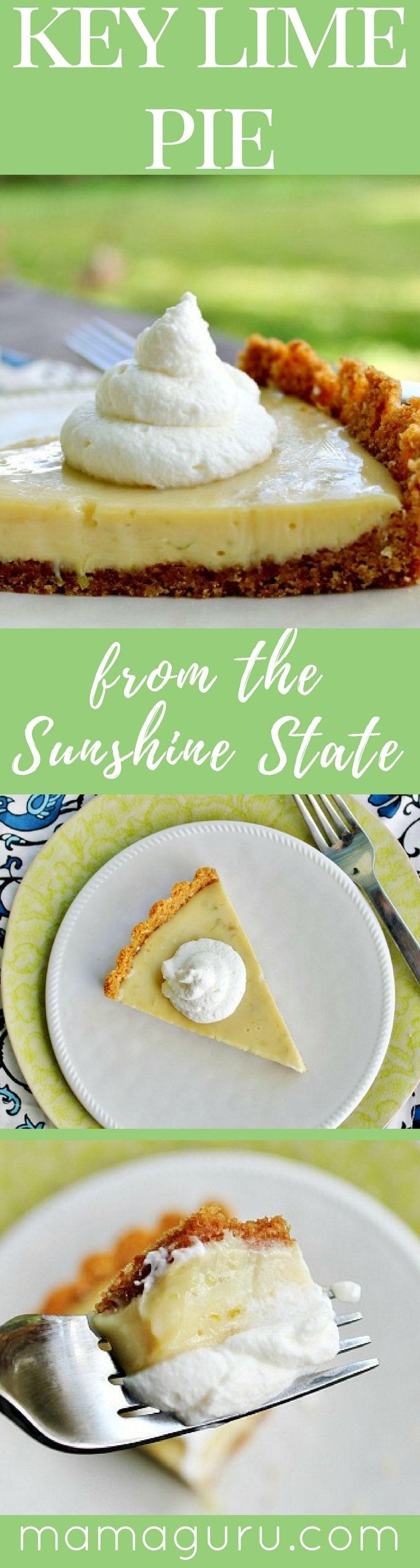 Key Lime Pie ♥ Dessert ♥ Graham Cracker Crust ♥ Citrus ♥ Florida