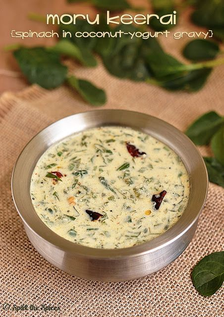 Moru Keerai | Spinach in Coconut Yogurt Gravy |