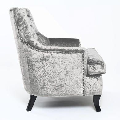 Buy Estero Crushed Velvet Silver Armchair from Furniture123 - the UK's leading online furniture and bed store
