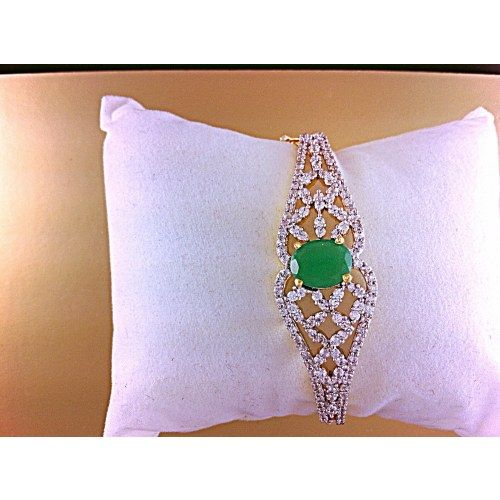 Online Shopping for Intricate American Diamond green bracelet - Bracelets n Bangles by Awesome Jewellery