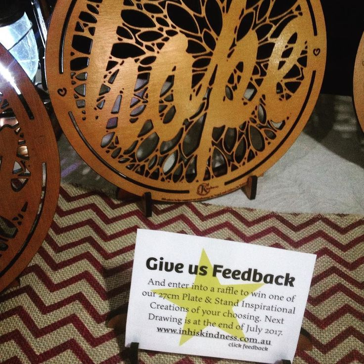 "Hi all I am looking for some market feedback for your time you will be entered into a raffle to win a 27 plate & stand of your choice. Go to http://ift.tt/2px71KJ and click ""feedback"" to answer 6 simple questions. #inhiskindness #research #marketstall #raffle #win #free #inspirational #handcrafted #madeinaustralia #madewithlove"