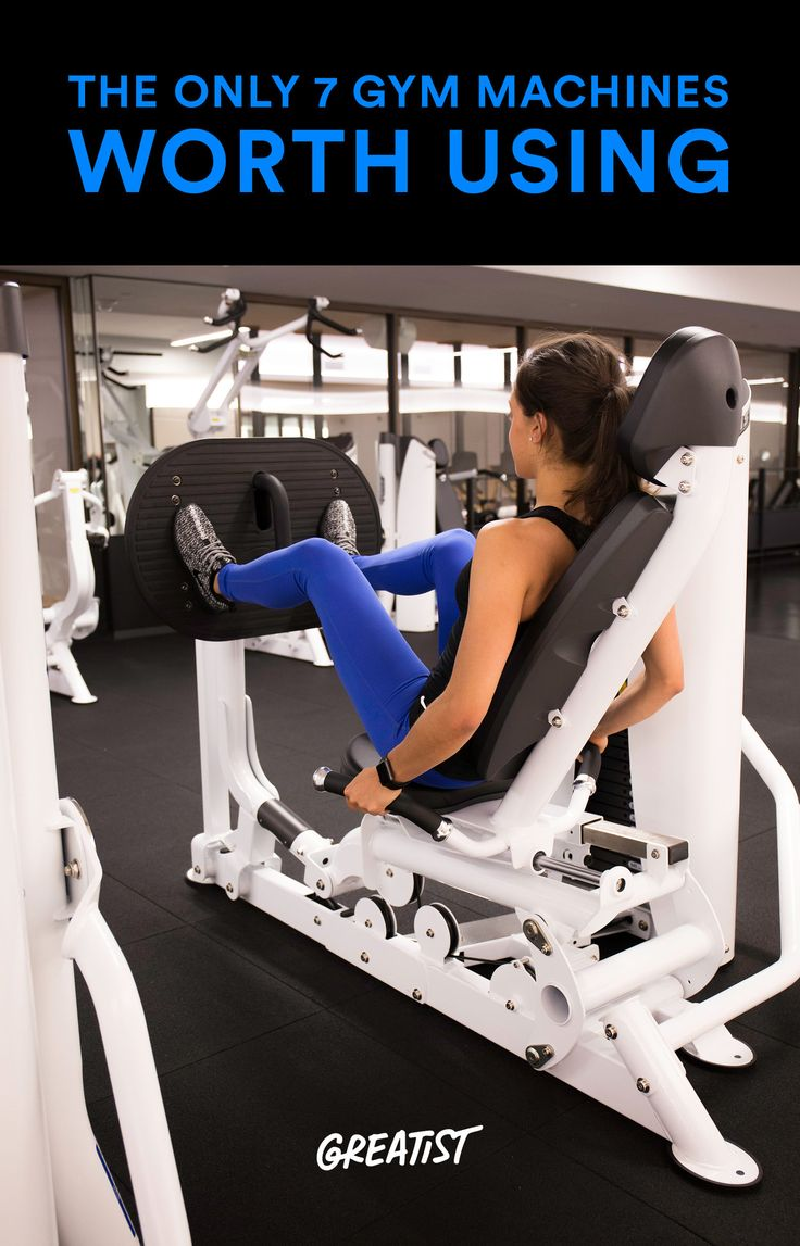 Repeat after us: There is nothing wrong with using weight machines. #fitness http://greatist.com/move/best-gym-machines