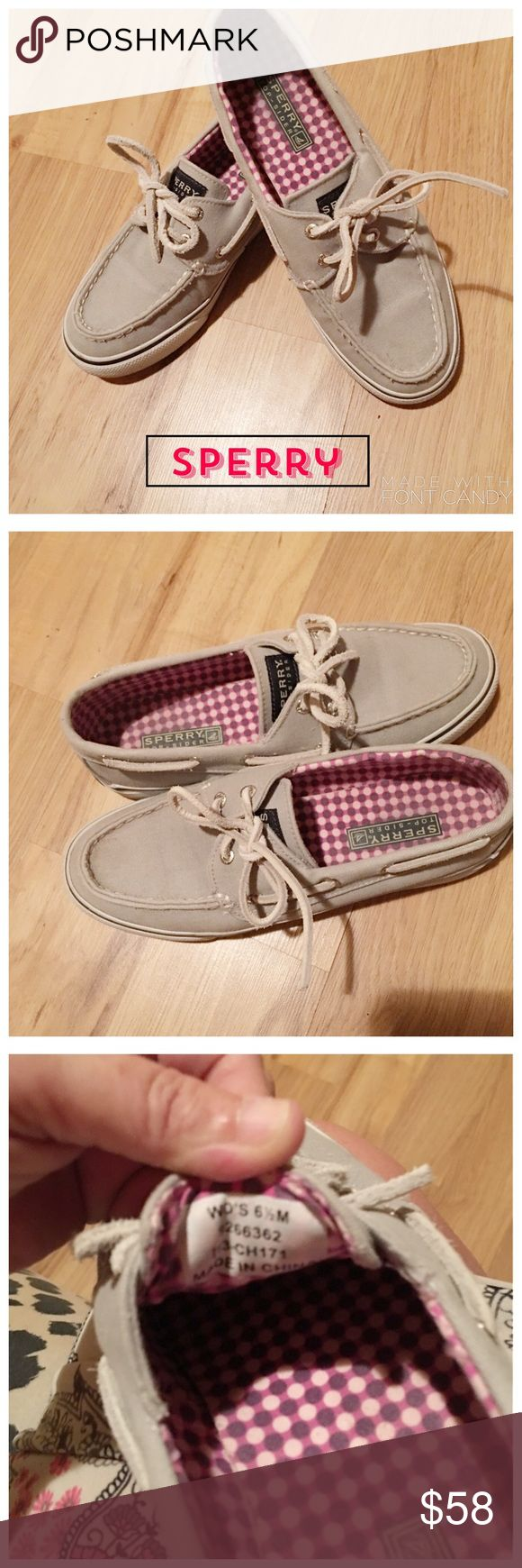 Sperry Loafers Soft light gray in color in excellent condition Sperry Shoes Flats & Loafers