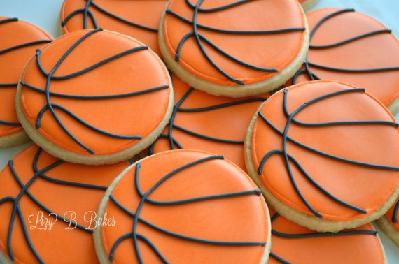 18 Basketball Cookies by LizyBsbakeshop on Etsy