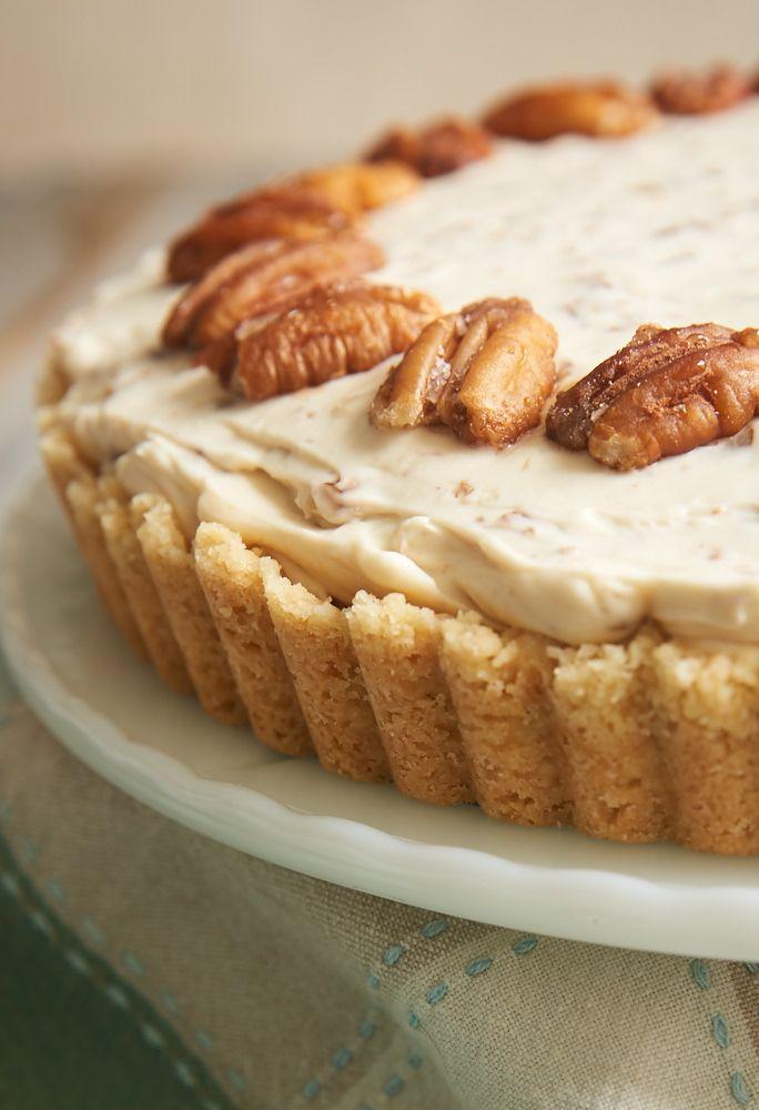 Als boter pecan is uw favoriete ijs, kan dan dit Butter Pecan Cheesecake heel goed zijn uw favoriete cheesecake!  Het is gevuld met boterachtige, geroosterde pecannoten, en het is absoluut fantastisch!  - Bak of Break