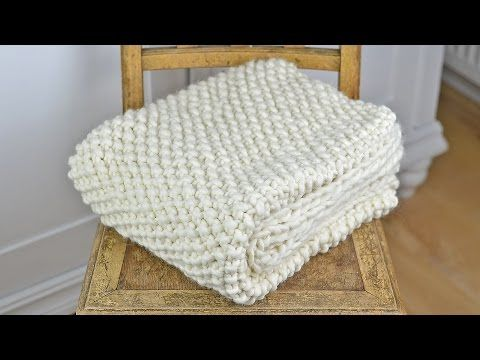 "Wolldecke/Plaid/Blanket stricken - Vorstellung eines Strickkit  von ""WE ARE KNITTERS"" - YouTube"