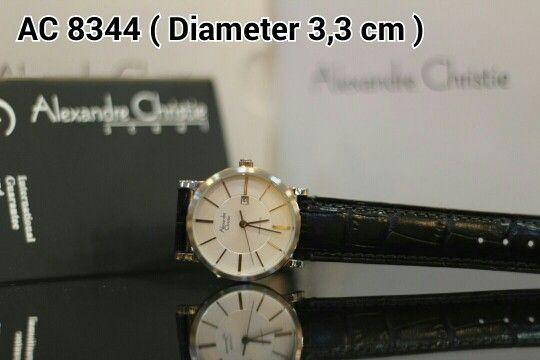 ALEXANDRE CHRISTIE 8344 Harga IDR 825.000 Material : Leather black - ring silver Diameter 3,3 cm Garansi mesin 1 tahun international