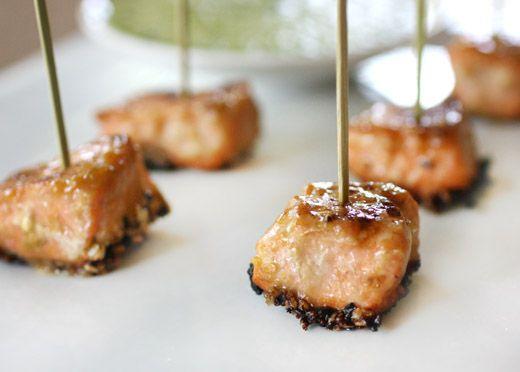 Sesame-Crusted Miso Salmon with Cilantro Sauce... wonderful salmon ...