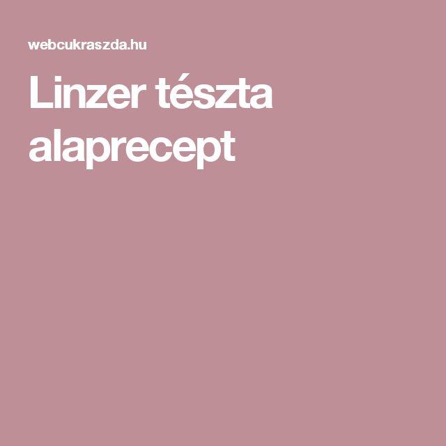 Linzer tészta alaprecept