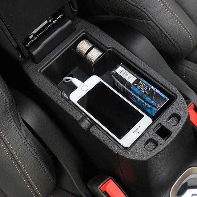 Pour Jeep Renegade 2015 up Voiture Center Console Accoudoir De Stockage boîte ABS Noir Accoudoir Boîte De Rangement Boîte à Gants De Stockage De Plateau boîte