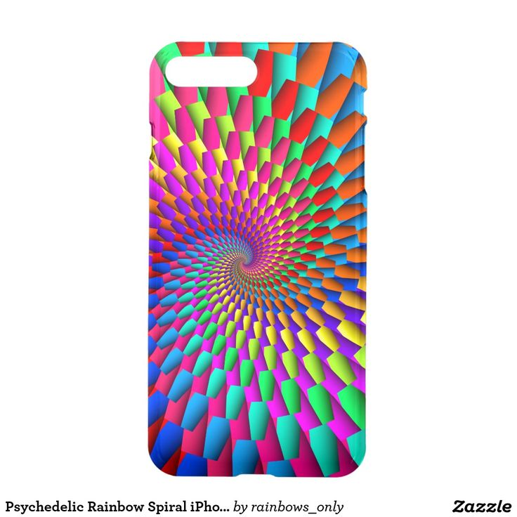 Psychedelic Rainbow Spiral iPhone7 Plus Case