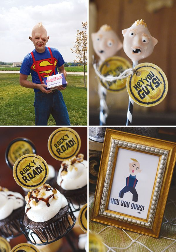 A Goonies themed party!  I think I just died from the adorableness.