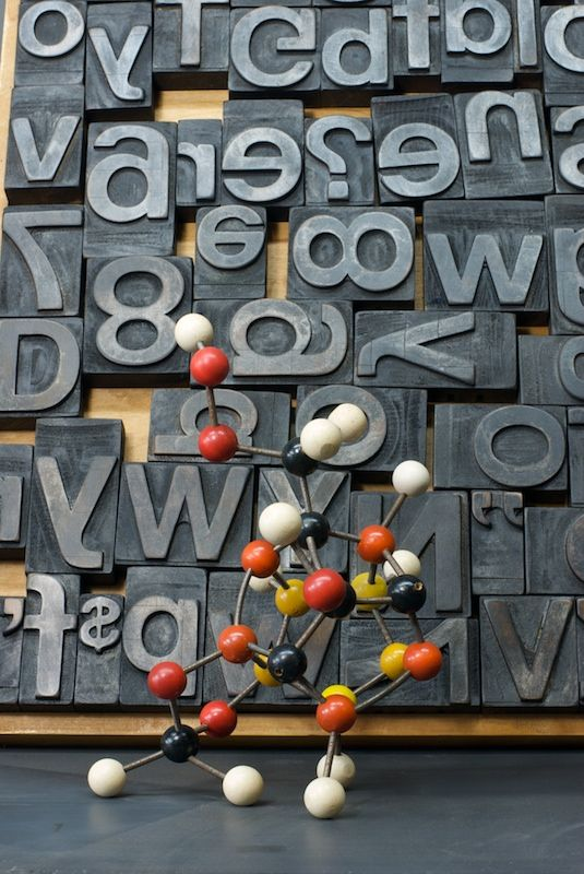 Letter Press Printing Blocks 20th century vintage industrial from the wonderful collection at Modern50