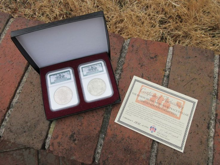 Certified NGC Binion Silver Morgan & Peace Dollar Limited Edition Collection