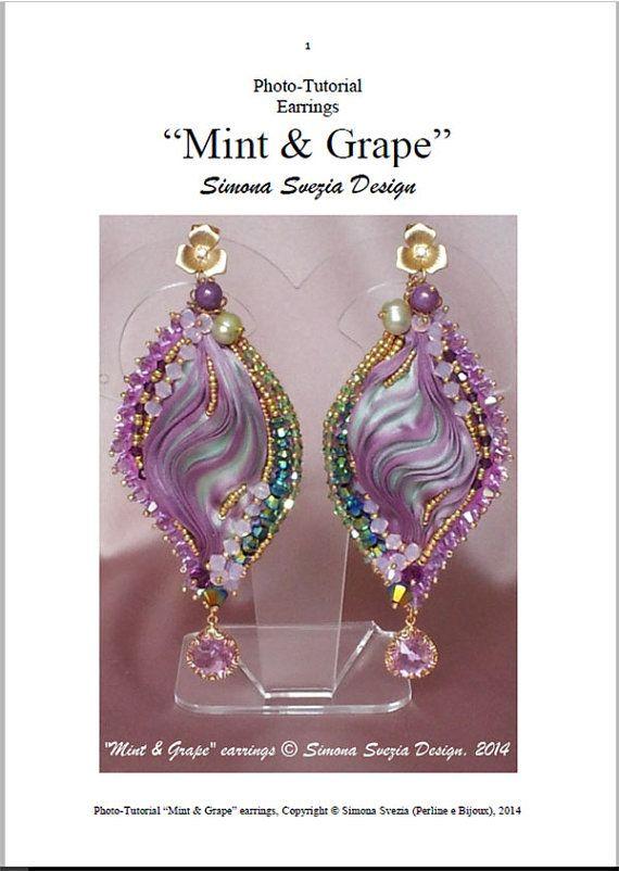 Tutorial  MINT & GRAPE earrings with shibori by PerlineeBijoux
