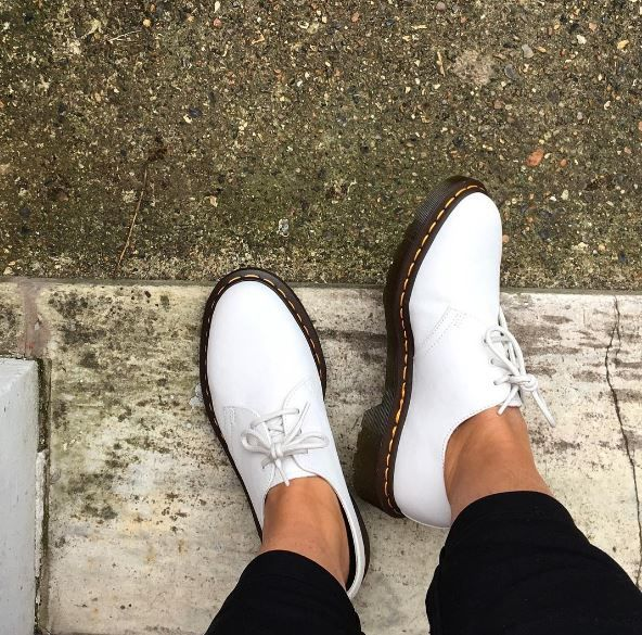 The 1461 in white Virginia leather, shared by _julietchant.