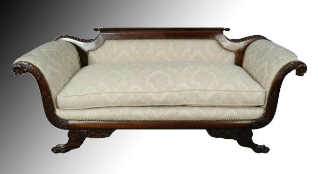 19th C Antique Carved Duncan Phyfe Sofa Decorating Pinterest